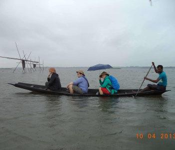 Boating at hail haor