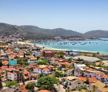 Cabo Frio seaside landscape in state of Rio de Janeiro in Brazil