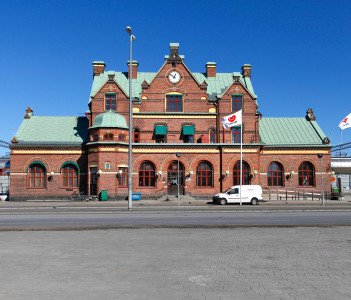 Umea Central Railway Station building in Sweden
