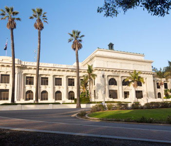 Ventura or San Buenaventura city hall in California