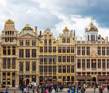 The Grand Place in Brussels in a beautiful summer day Belgium.