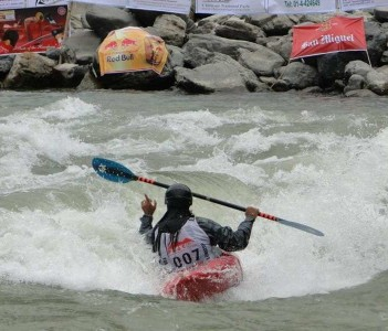 Competing at the Himalayan Whitewater Festival