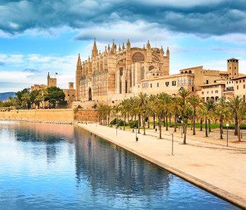 Santa Iglesia Cathedral de Mallorca in Palma de Mallorca town on Mallorca Island Spain