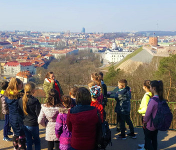 Spring on Vilnius hills
