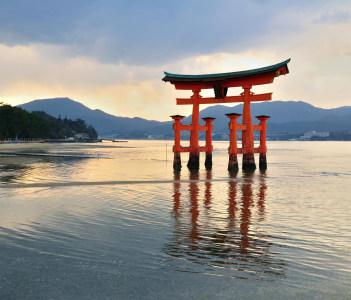 Reflection of Miyajima