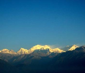 The Kanchenjunga Mountain Range