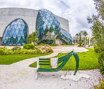 ST. PETERSBURG USA  Exterior of Salvador Dali Museum in St. Petersburg FL USA. The museum has one of the largest collection of works of Salvador Dali in the world.