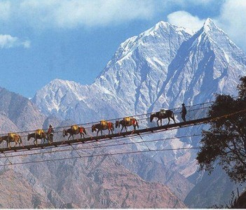 On the way to Mt Everest