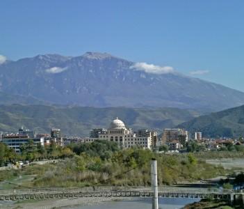 University and Mountains Berat Albania