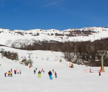 Ski in downtown Chapelco Hill in San Martin de los Andes, Neuquen Province, Argentina
