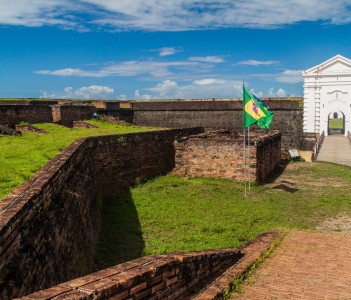 Fortress of Sao Jose de Macapa in city Macapa, Brazil