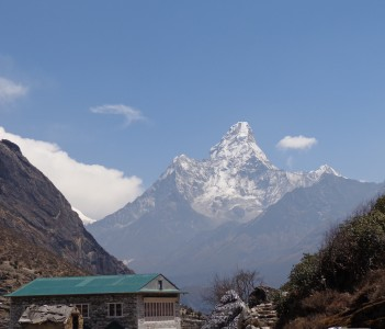 Mount Amadablam seen from Khumjung
