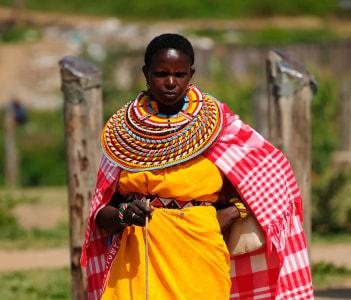 Samburu tribe woman Mararal town in Kenya