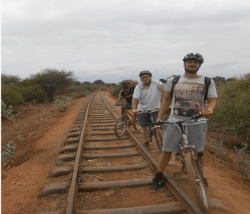 bike tour to hot spring at bomangombe...