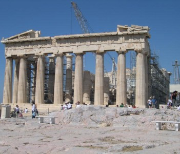 Athens Greece is preferentially included on the list of World Heritage Monuments, satisfying all the institution's significant and strict criteria - In photo Parthenon Temple @ Acropolis