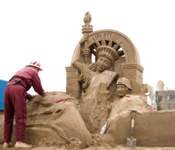 World Championship Sand Sculpting Event Federal Way WA USA