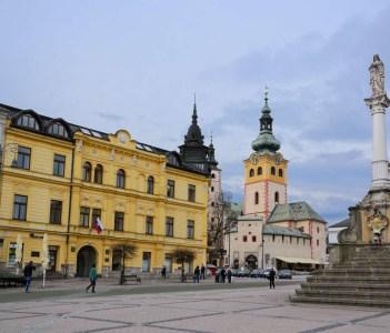 Town square in Banska Bystrica Slovakia