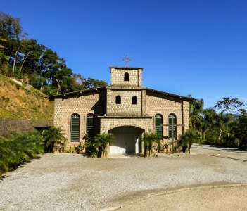 Old stone church in Jaragua do Sul Brazil