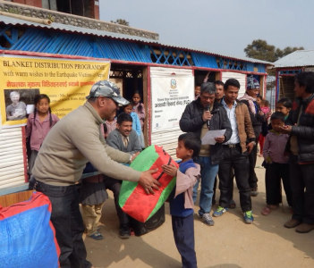 Post Earthquake relief distribution prog