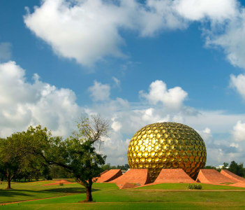 Matrimandir, Golden Temple in Auroville, Pondicherry