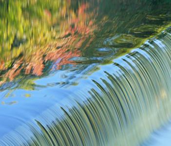 Battle Creek River in Michigan USA
