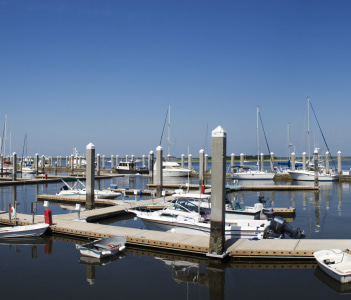 Fernandina Beach Harbor in USA