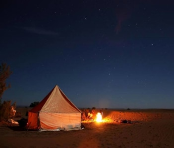 bivouac sauvage in desert by camel trip 3 day