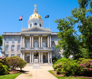 New Hampshire State House in Concord New Hampshire USA