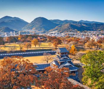 Kumamoto, Japan in autumn.