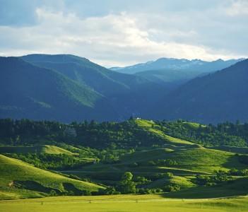 American Rocky Mountains near Sheridan in Montana USA