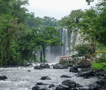 Waterfall Salto de Eyipantla Waterfall