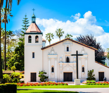 Mission Santa Clara de Asis, the 8th of the 21 missions established by the Spanish missionaries in the state of California