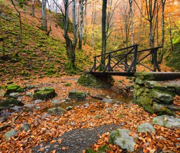 Autumn landscape near the town of Teteven in Bulgaria