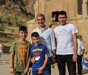 with Vatche and his lovely sons from Lebanon
