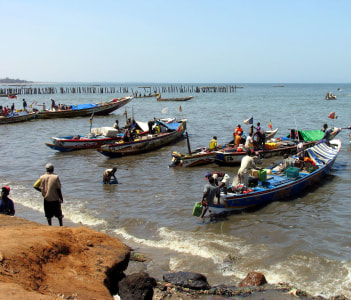 Fishing Boat in Mbour