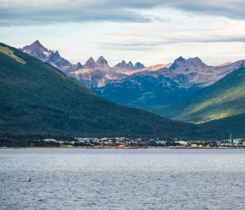 Town of Puerto Williams in Chile