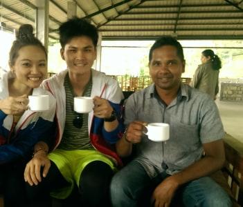 Tea test at macwood tea factory