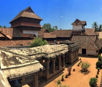 The ancient wooden palace Padmanabhapuram of the maharaja in Trivandrum