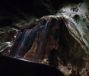 pagoda in natural cave