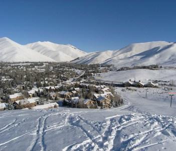 Sun Valley Idaho from Dollar Mountain