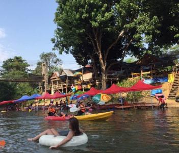 Kayaking on Nam Song River
