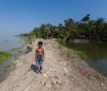 River erosion in Bangladesh, Noakhali, Bangladesh