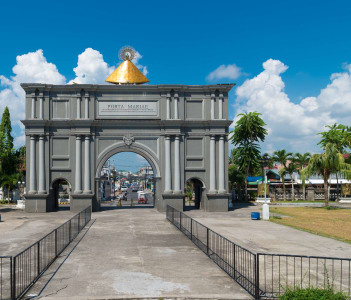 Porta mariae, a commemorative arch dedicated to Lady of Penafrancia, celebrating 300 years of devotion
