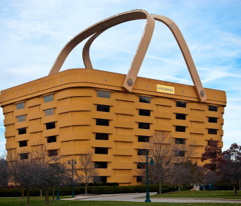 Basket shaped Longaberger Company home office building Newark Ohio