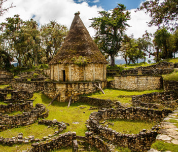 Famous view of Lost city Kuelap, near Chachapoyas, Peru