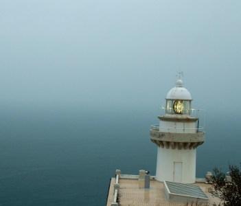 Lighthouse above San Sebastian Spain
