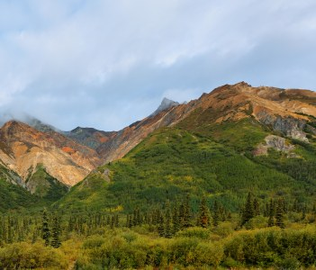 Beautiful Sheep Mountain at sunrise, Sutton, Alaska, USA