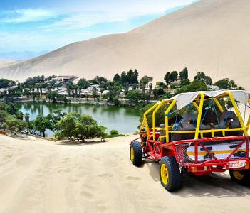 Dune Buggy ride & sandboarding in Huacachina oasis