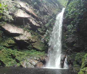 Huacamaillo Falls near Tarapoto, Peru