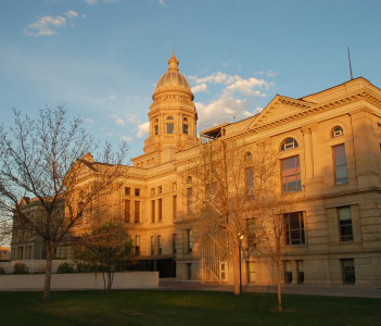 Wyoming State Capitol Building in Cheyenne USA